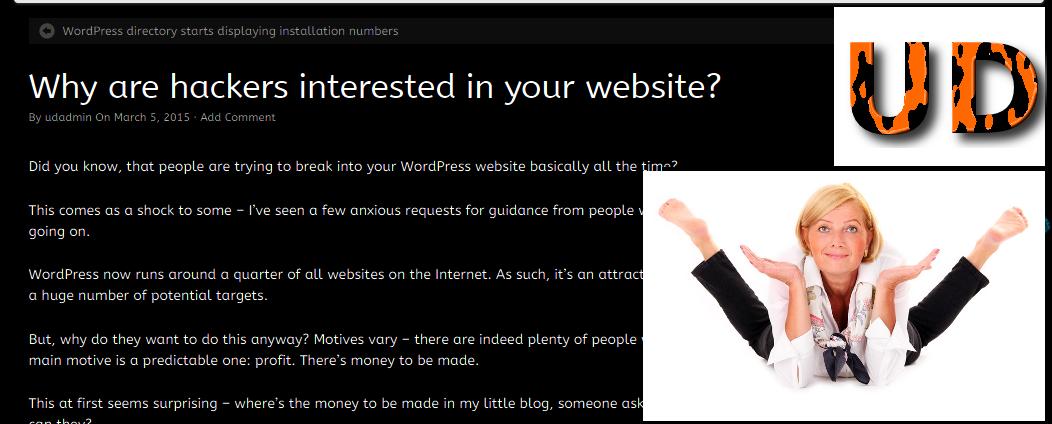 Updraftplus Post on WordPress hack attempts