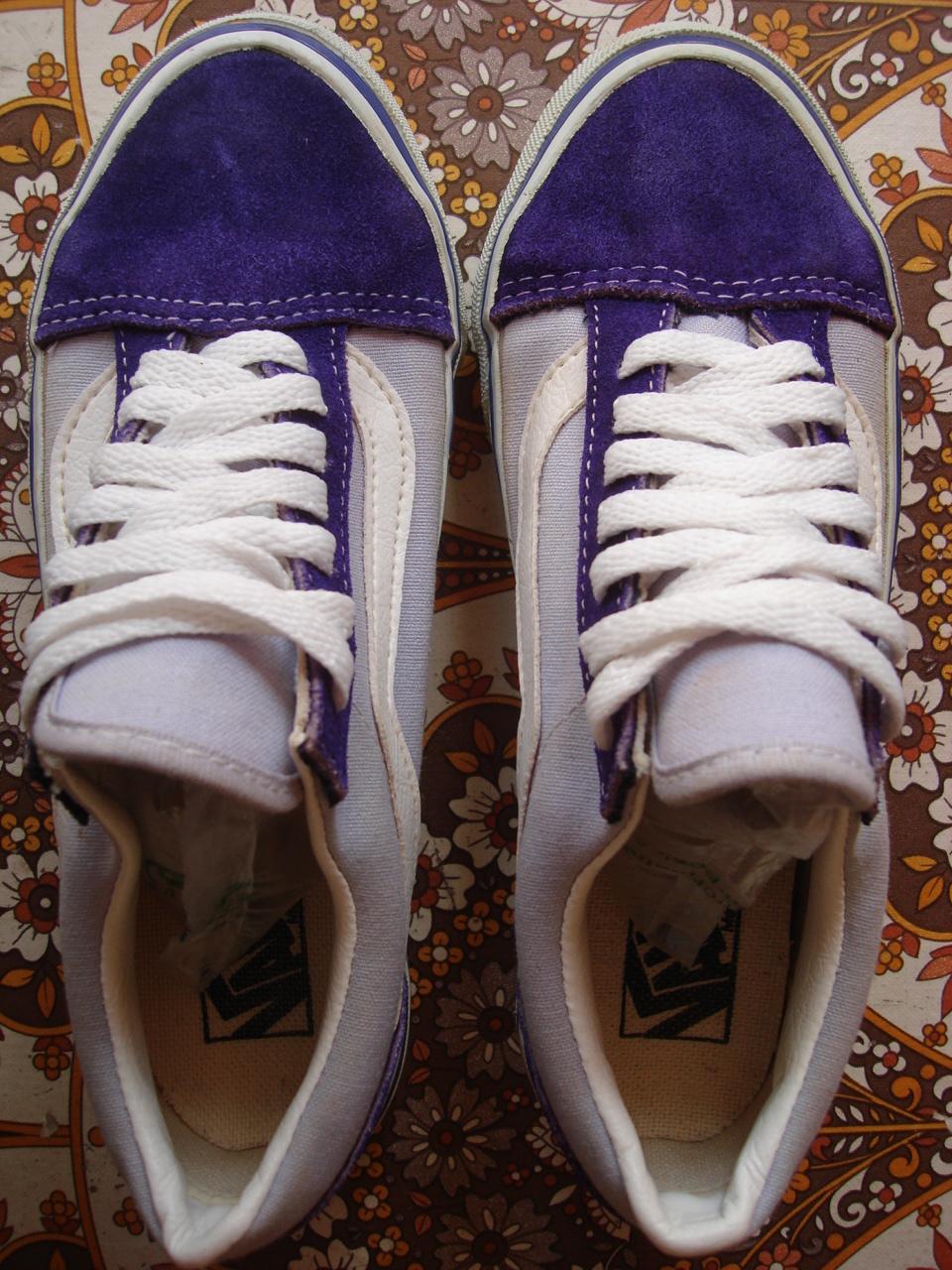 vintage VANS lilac lavender OLD SKOOL style  36 womens girls ladies MADE IN  USA purple US4 USw6 b1ed26c922