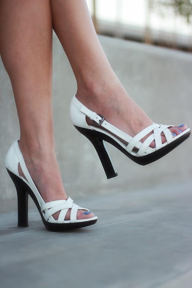 laundry white patent heels