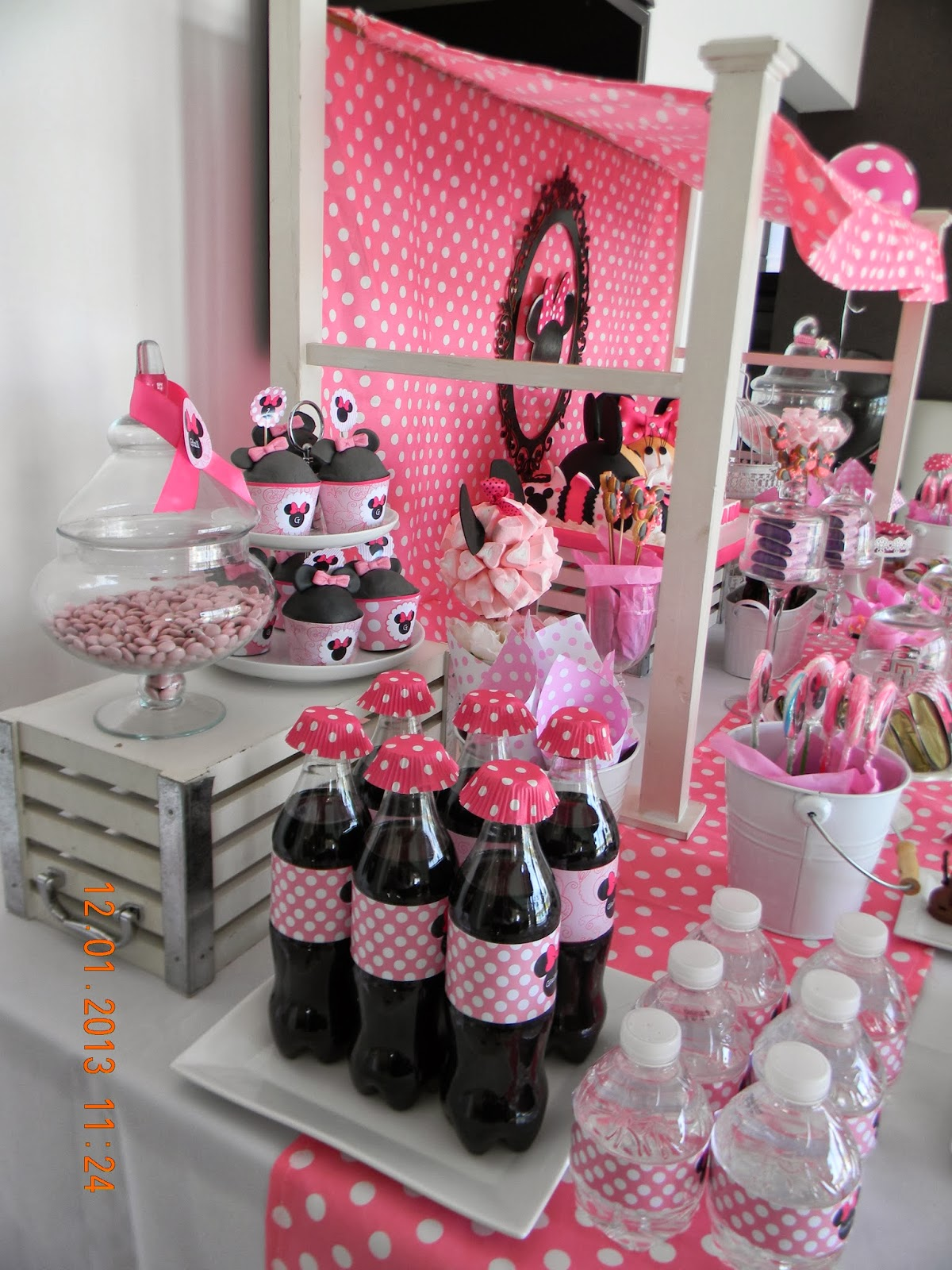 Cumples tematicos candy bar minnie en rosa - Ideas decoracion bar ...