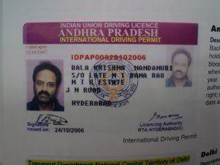 Driving license status andhra pradesh