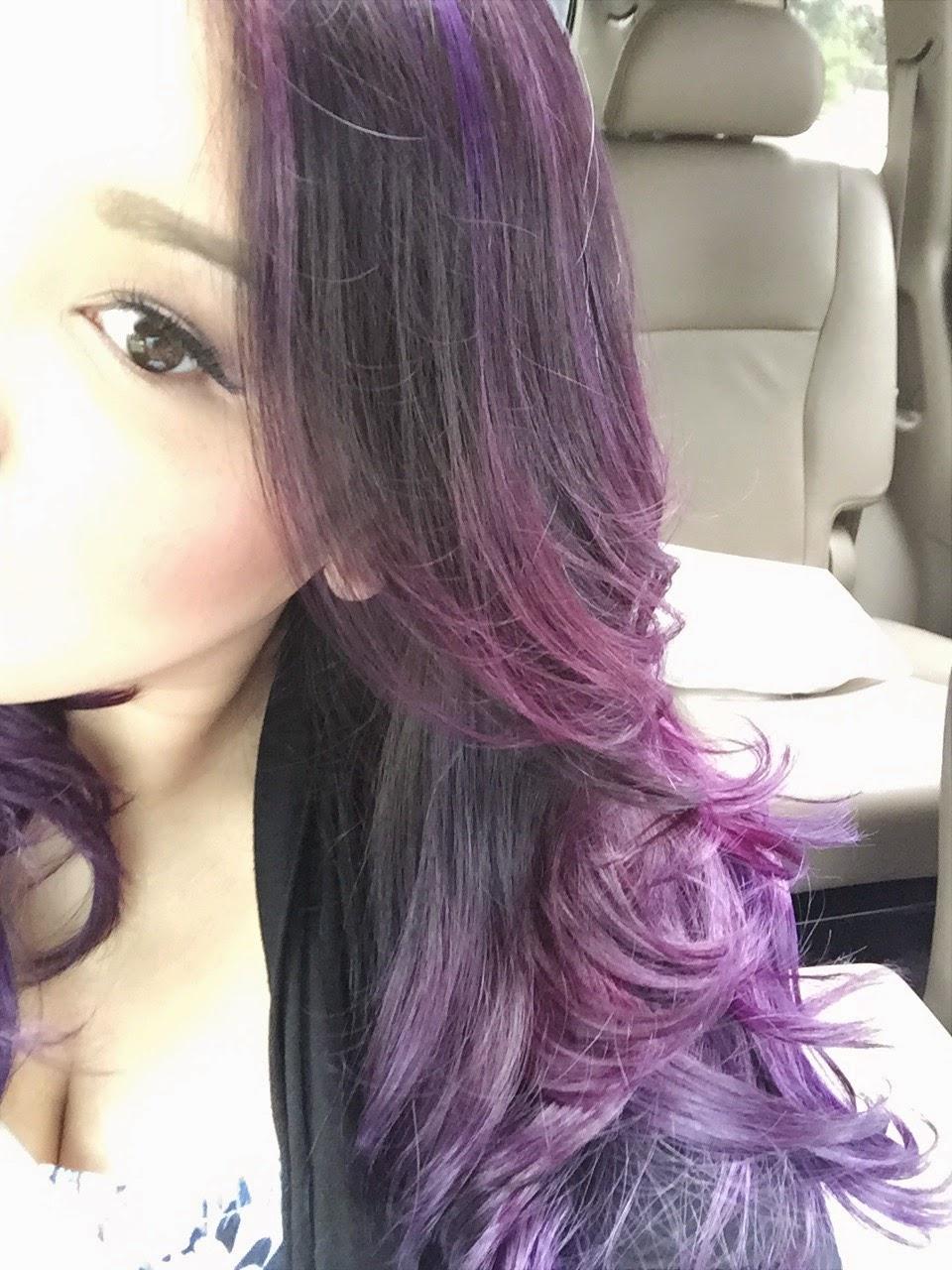 Dsk Steph Purple Ombre Hair Color