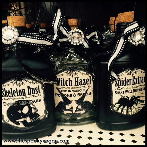 more spooktacular bottles the labels on these are so cool - Michaels Halloween Decor