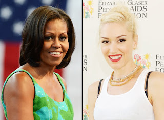 Michelle Obama and Gwen Stefani