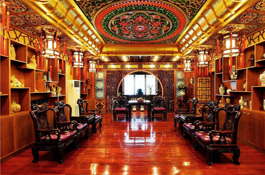 Chinese Drug Makers Office Looks Like Royal Palace Damn