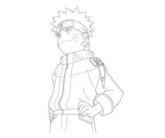 #2 Naruto Coloring Page