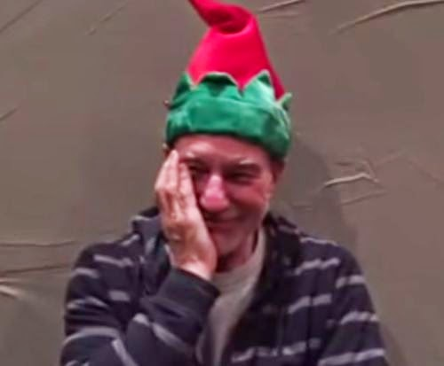 Ouch! Here Patrick Stewart gets on the cap