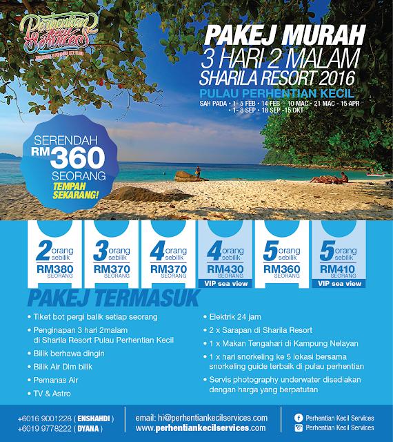 Pakej serendah rm 360  Pulau Perhentian Murah 2016 , 2017 , 2018