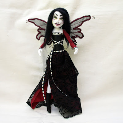 ebony naughty fairy art doll