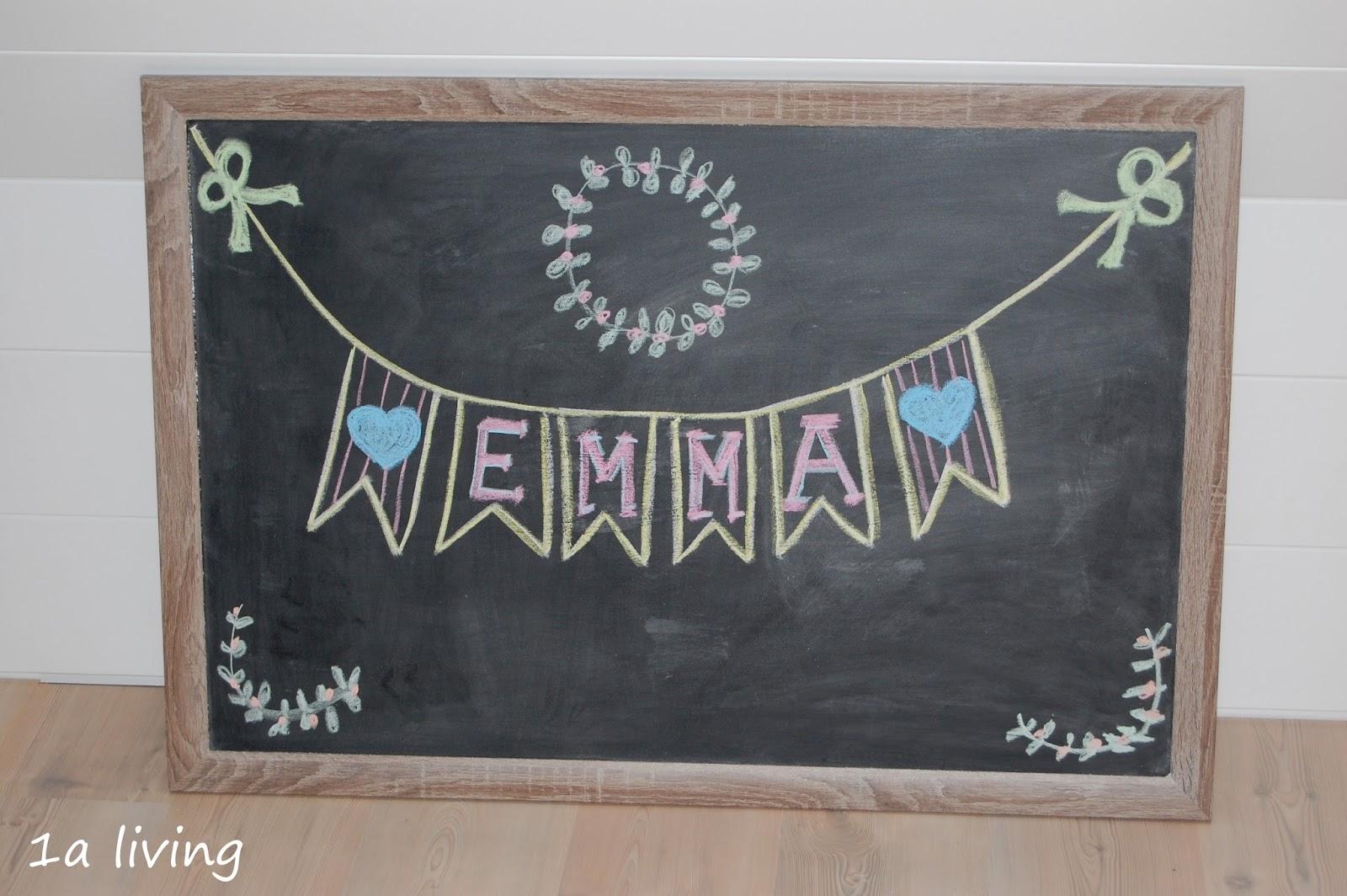 1a living: {DIY} Eine Tafel für unsere kleine Künstlerin
