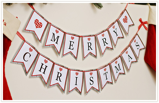 picture relating to Merry Christmas Banner Printable titled Paper and Social gathering Appreciate: Cost-free Printable Merry Xmas Banner