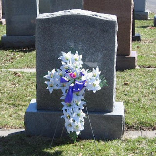 Order a White Lily Cross for a Grave Site or Memorial Tribute