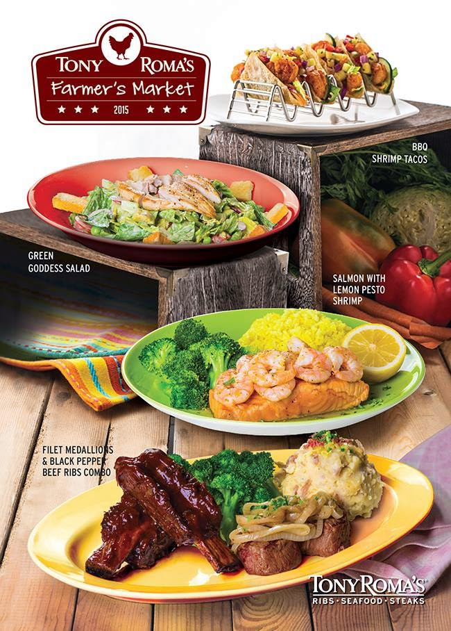 """Discover New Culinary Creations with Tony Roma's """"Farmer's Market Promotion"""