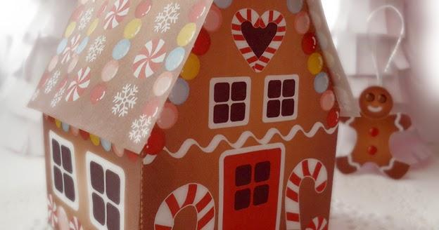 todi  paper gingerbread house printable