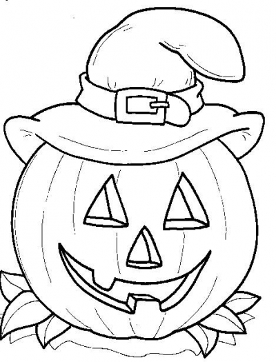 Coloring Page World Jack O Lantern Witch