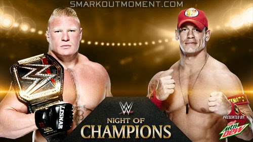 Brock Lesnar vs John Cena Night of Champions 2014 Special Event