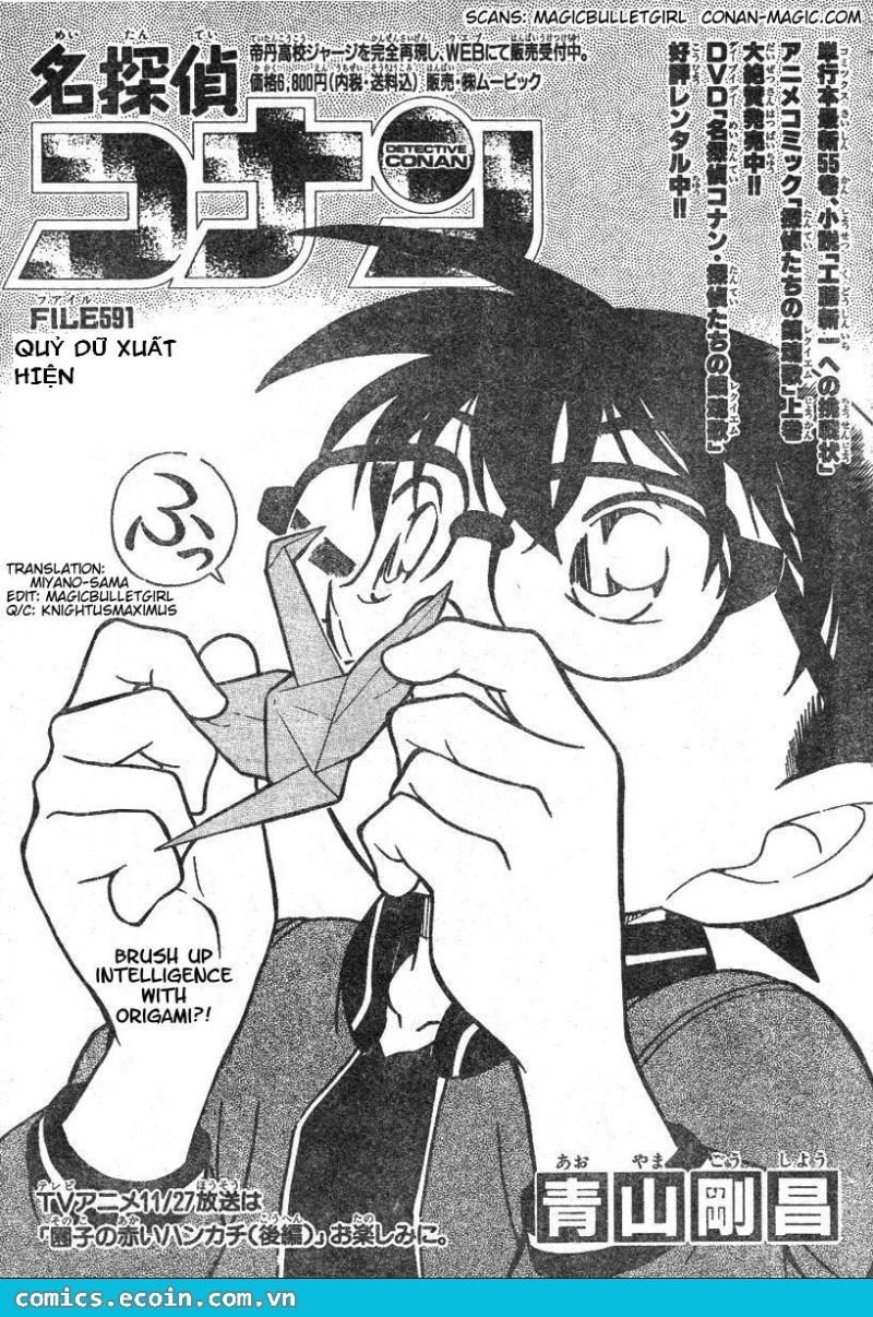 Detective Conan - Thám Tử Lừng Danh Conan chap 591 page 1 - IZTruyenTranh.com