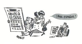 Manel Fontdevila, En el lado bueno de la valla, España en 100 viñetas, edita Rocaeditorial, chistes, actualidad, humor