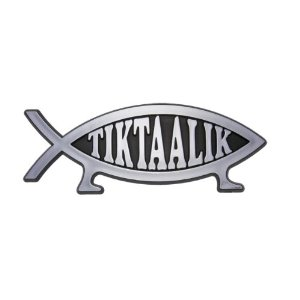 Fish wars on cars new tiktaalik fish car emblem for Fish symbol on cars