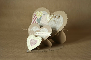 triple easel card, hearts a flutter, stampin' up