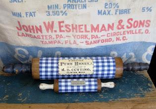 blue gingham kitchen
