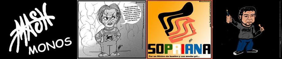 """""""Otros monos de Mash (Caricatura política al estilo independiente)."""""""