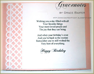 Rose Trellis birthday, poem