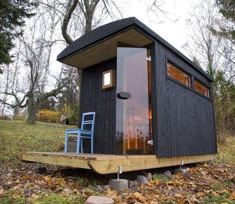 A Finnish Tiny House Sauna And Houseboat