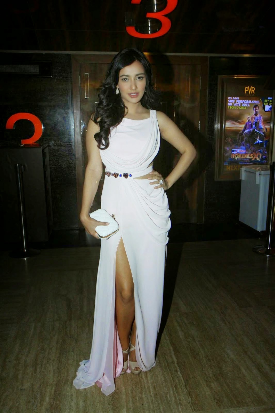 Neha Sharma Looking Hot in White Dress - Unseen hot hd wallpapers