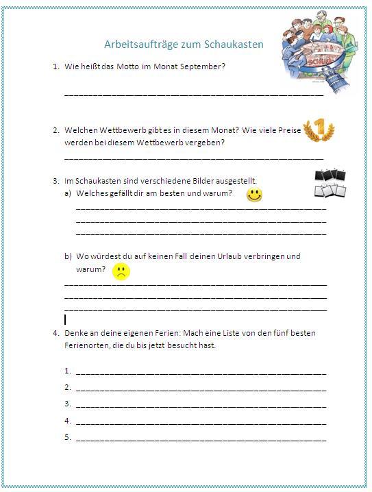 Deutsch für Alle: Motto des Monats