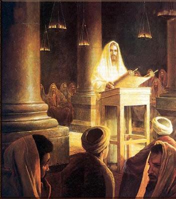 Jesus preaching in Synagogue - vangelo di domanica prossima dans immagini sacre Greg%2BOlson%2BJesus%2Breading%2BIsaiah