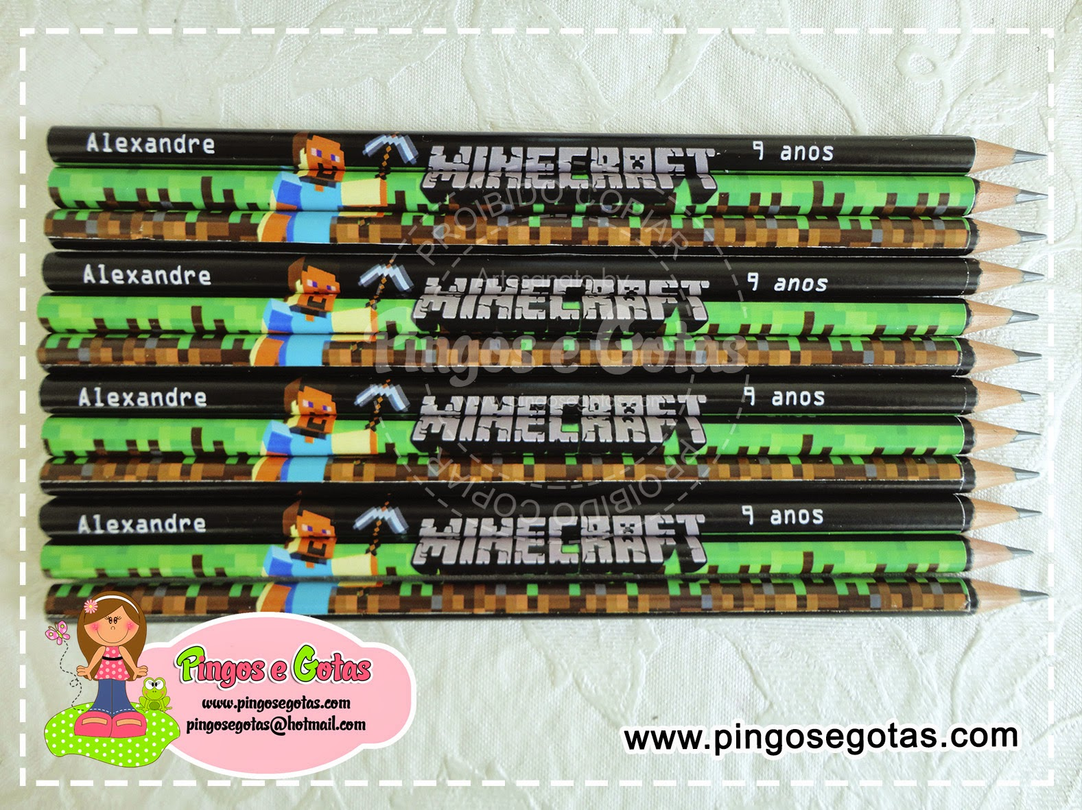 lápis minecraft