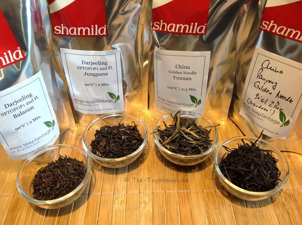 Tee-Auswahl von Evas Teeplantage