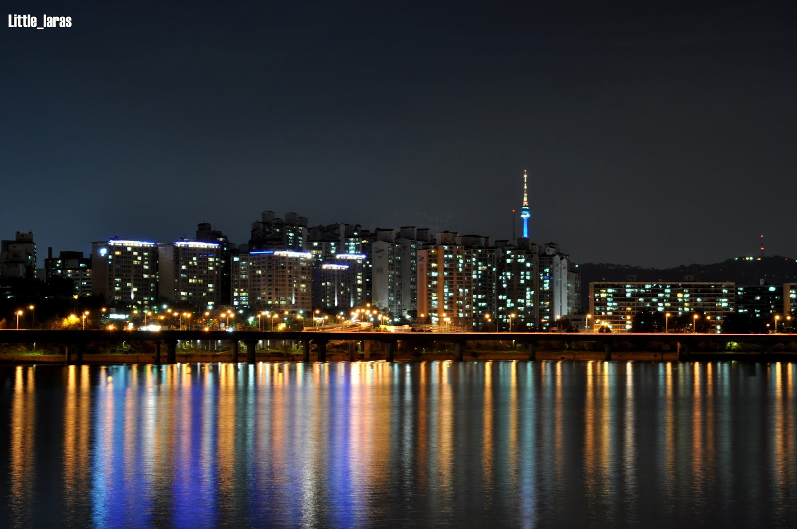 Han River At Night From Yeouido Park Little Laras