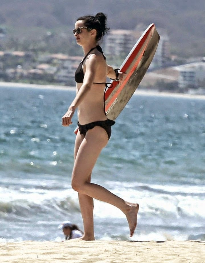 Krysten Ritter was seen getting along famously with a surfboard on Tuesday, April 29, 2014 at Cabo San Lucas, Mexico.