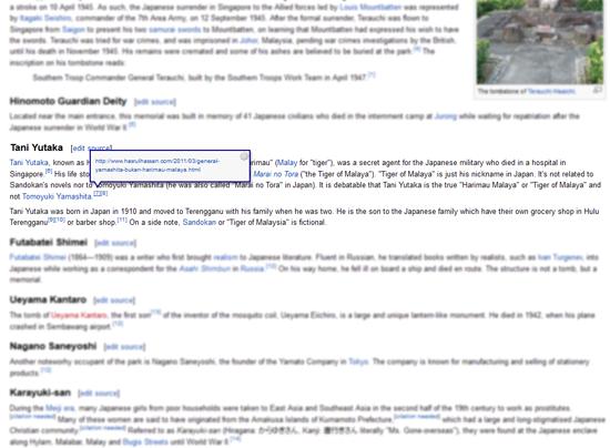 Entri jadi sumber rujukan di Wikipedia