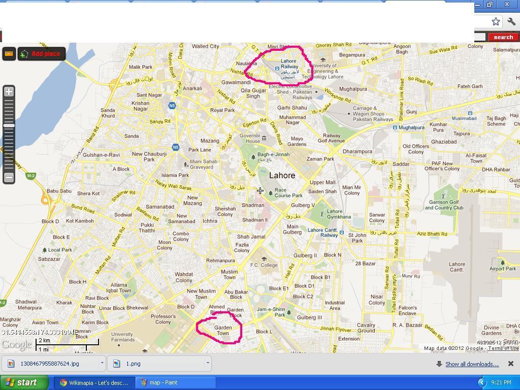 Lahore map ~ Kohat Online