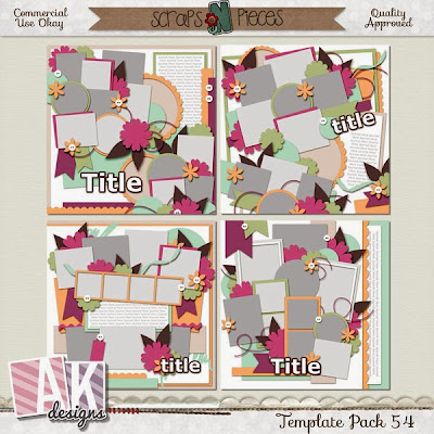 Get the most out of your layout space with Template Pack 54. Load up your page with all those holiday photos. With this set of templates you can pick out 10-12 photos to place on your page.