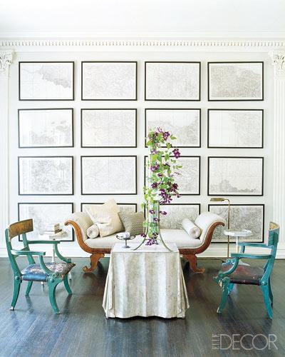 decoración con piezas en color turquesa