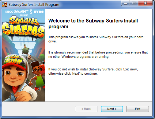 get downloaded on pc install subway surfers on your pc