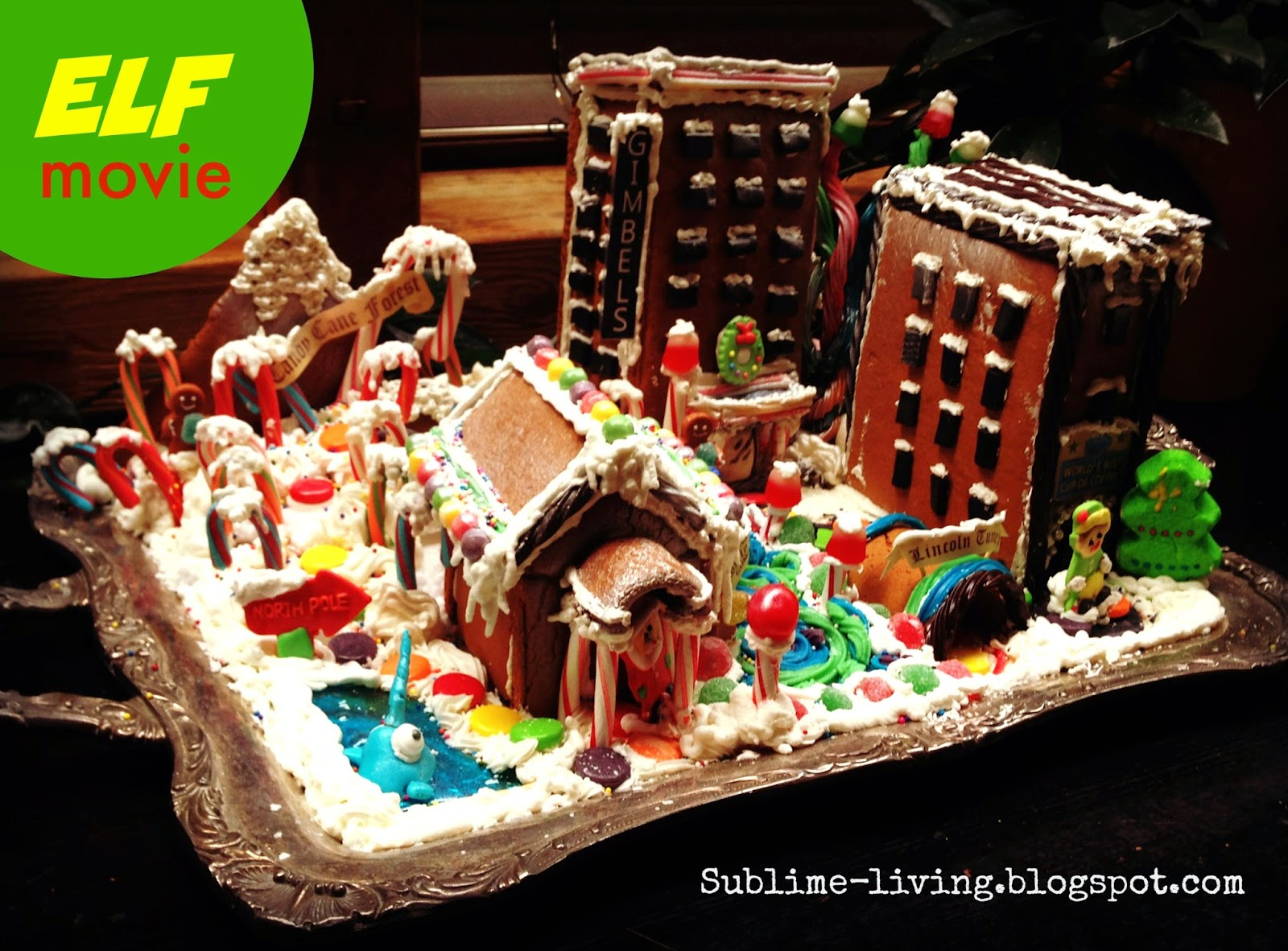 Sublime living making a custom gingerbread house from for Gingerbread house themes