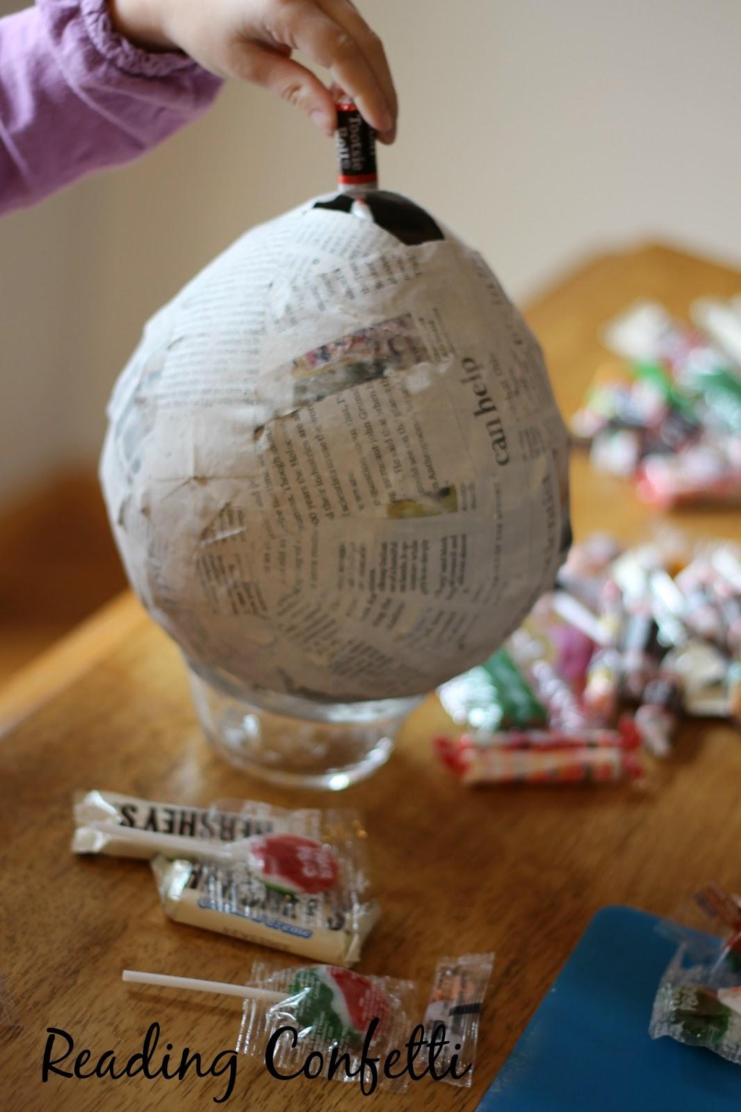 Diy frozen or princess birthday pinatas reading confetti for How do you make paper mache glue at home