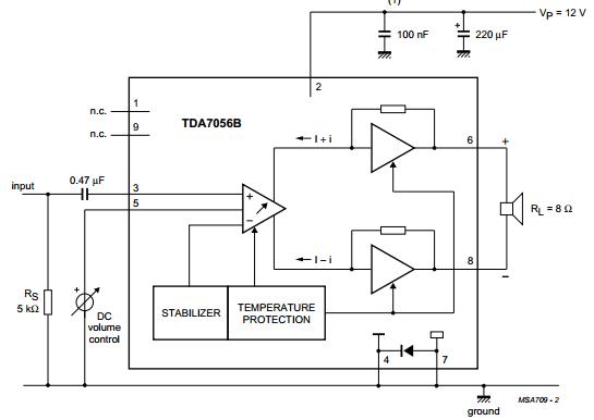 5W mono audio amplifier