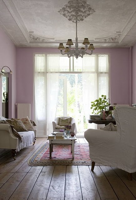 Gillyflower images to inspire for Lilac living room walls