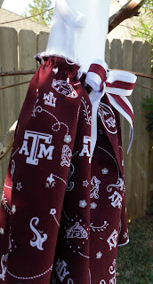 Texas A&M Aggies baby clothing onesie dress