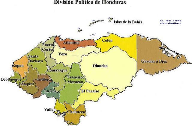 mapa honduras