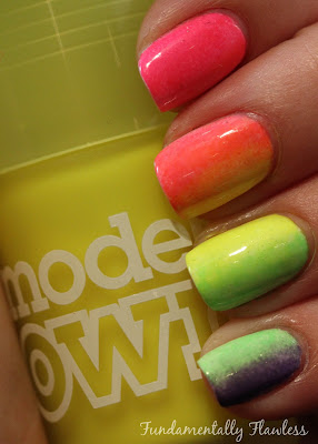 Fundamentally Flawless: Models Own Ice Neon Luis Lemon Gradient Nails
