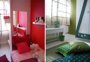 separa espacio dormitorio niños