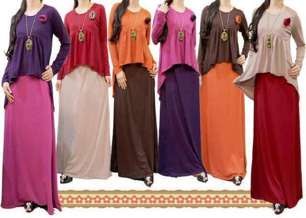 Gaya Model Trendi Baju Gamis Busana Muslim Terbaru 2013