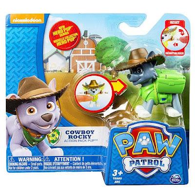 TOYS : JUGUETES - PAW PATROL : La Patrulla Canina Cowboy Rocky | Hero Pup | Figura - Muñeco Producto Oficial Serie TV Nickelodeon 2015 | A partir de 3 años Comprar en Amazon España & buy Amazon USA